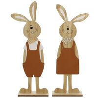 Christmas Wood Figurine Festival Easter Rabbit Shape Statue Animal Garden Sculpture Outdoor Fences Lawn Yard Decoration Figurines Valentine Romantic Ornament Statues,model:Multicolor