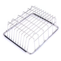 Dish Sink Rack Over Sink Drying Bowl Holder Stainless Steel Vegetables Washing Basket Kitchen Shelf Cutlery Drainer,model:Silver Small