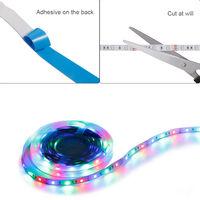 LED Strip Lights Light Color Adjustable RGB LED Strip Lights for TVs PCs Bedroom Kitchen Christmas Tree Decorate,model: not waterproof-50cm