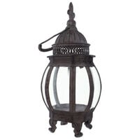 Metal Hanging Candle Lantern Cage Ornament Retro Statue Garden Candle Holder Outdoor Fences Lawn Yard Decoration Figurines Valentine Romantic Wedding Ornament Statues,model:Brown