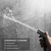 Handheld Bidet Sprayer Shattaf Cloth Diaper Toilet Sprayer Stainless Steel Polished Bathroom Shower Bidet Spray Set,model: 1 Piece Bidet Sprayer