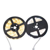 Warm White LED Strip Light 6.56ft 3000K Warm White Tape Light with Motion Sensor Dimmable Ribbon Light Waterproof Flexible Undercabinet Tape Lighting Rope Lighting for Home Kitchen Under Cabinet Bedroom,model:White Warm White & 6.56ft & Internal Battery