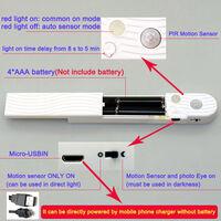 LED Strip Lights 6.56ft 6500K Cool White Tape Light with Motion Sensor Ribbon Light Waterproof Flexible Undercabinet Tape Lighting Rope Lighting for Home Kitchen Under Cabinet Bedroom,model:White Cool White & 6.56ft & External Battery