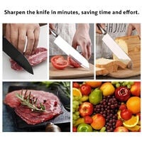 Electric Knife Sharpener Quick Sharpening 1200mAh Battery USB Powered Household Cutter Sharpeners Grinder Kitchen Tools,model:White