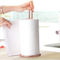 Paper Towel Holder Stainless Steel Paper Holder Towel Dispenser, Easy to Tear Paper Towel Rack Holder for Kitchen Bathroom,model:Rose