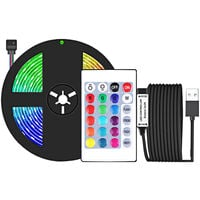 LED Strip Lights 3.28ft. RGB Waterproof Tape Lights with IR Remote Control 16 Colors 4 Modes 5050 Color Changing LED Lights for Home Ceiling Party Festival,model: 1m