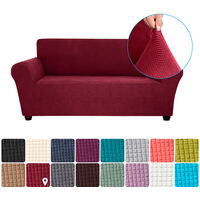 Stretch Sofa Slipcover Spandex Anti-Slip Soft Couch Sofa Cover 2 Seater Washable for Living Room Kids Pets