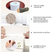 10rolls Soft Toilet 3-layer Thickening Strong Water Absorption Tissues Virgin Wood Pulp Home Bathroom Kitchen Accessori,model:White