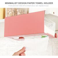 Cabinets Paper Towel Holder Under The Cabinet Paper Dispenser Over The Door Towel Rack Without Drilling for Kitchen Bathroom,model:Pink