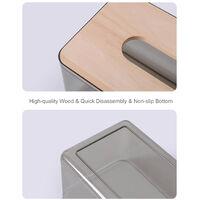 Paper Towel Dispenser Wood Tissue Box Cover Holder Countertops Bathroom Toilet Tissue Box Napkin Storage Box Home Kitchen Facial Tissue Box Cover for Bedroom Car Office,model:Black S