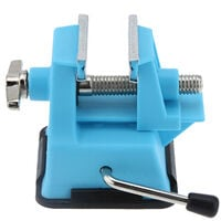 Pro'sKit PD-372 Mini Vise Bench Working Table Vice Bench for DIY Jewelry Craft Mould Fixed Repair Tool (Jaw opening 25mm),model:blue