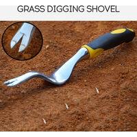 Magnesium Aluminum Grass Digging Vegetables Loose Soil Rooting Device Transplant Seedling Manual Weeding Tool Shovel Rubber Handle Alloy Drafter,model:Black