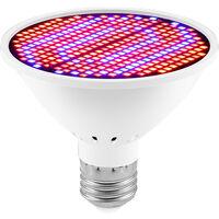 LED Grow Light Bulb for Indoor Plants Red & Blue Spectrum 126 LEDs Plant Light Bulbs E27 Growing Lamp for Seedlings Hydroponic Succulent Flowers Veg Greenhouse (85-265V),model: 126 LEDs