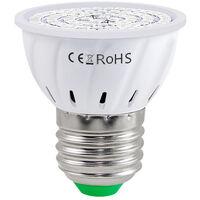 LED Grow Light Bulb for Indoor Plants Red & Blue Spectrum LED Plant Light Bulbs E27 Growing Lamp for Seedlings Hydroponic Succulent Flowers Veg Greenhouse (220V),model: E27 & 80 LEDs