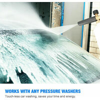 Snow Foam Lance Auto Pressure Washer Jet Quick Release Foam Sprayer with 1/4'' Inch Quick Connector & 5 Washer Nozzle Tips,model: 1L