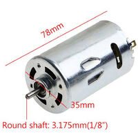 DC 12V-36V Lathe Press 555 Motor with Miniature Hand Drill Chuck and Mounting Bracket DIY Tool Set,model: 2