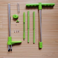 Stand-Up Weeders with Telescopic Handle 3 Claws Weed Puller Manual Ruderal Remover with High Strength Foot Pedal,model:Green