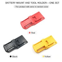 Lithium-Ion Batteries Storage Bracket Mount Battery Clip and Electric Tool Base Holder-One Set Replacement for DeWalt 20V and Milwaukee 18V Battery and Tool,model:Black
