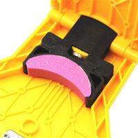 Chainsaw Sharpener Portable Chain Saw Sharpener Work Fast-Sharpening Stone Grinder Tools Yellow,model:Yellow & Pink