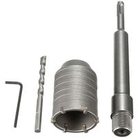 SDS Plus Shank Concrete Cement Stone 50mm Wall Hole Saw Drill Bit 200mm Rod New,model: 1 kit