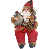 Christmas Decorations Xmas Santa Plush Doll Sitting / Standing Posture Ornaments Gifts Shop Hotel Home Festival Decor,model: type2 & B