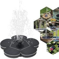 7V 1.5W Solar Water Pump Fountain Garden Floating Plants Watering Power Fountains Pool Home Garden Fish Pond Waterpump,model:Black