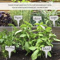 100-Piece Reusable Plant Label Waterproof Garden Marker Plastic Plant Marker Plant Name Tags Nursery Labels for Garden Prep Flower Herb Veggie Seedling,model:Green 100pcs