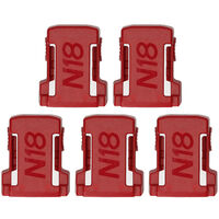 5pcs Lithium-Ion Batteries Storage Bracket Dedicated Battery Clip Battery Mount Dock Holder Replacement for Mil-waukee M18 18V Battery,model:Red