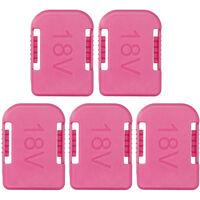 5pcs Lithium-Ion Batteries Storage Bracket Dedicated Battery Clip Battery Mount Dock Holder Replacement for Bo-sch BAT622 BAT609 18V Battery MAK BL1860B BL1850B BL1860 BL1850 18V Battery,model:Pink