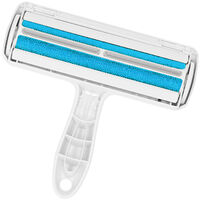Pet Hair Remover Roller Lint Roller Self Cleaning Dog & Cat Hair Remover Fur Remover No Adhesive or Sticky Tape Needed for Carpets Bedding Clothing,model:Blue