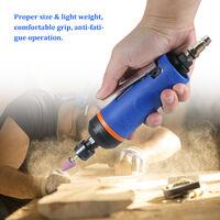 1/4 Inches High Speed Air Grinder 20000RPM Mini Air Die Grinder Kit Pneumatic Tools Set Polishing Grinder Polishing Machine Engraving Mill Air Mill,model:Blue 20000RPM - EU