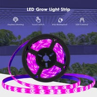 LED Grow Light Strip IP65 Waterproof Stepless Dimming Cuttable USB Plant Grow Strip Lights Flexible Soft Rope Light for Indoor Outdoor Plants Flowers Veg Greenhouse,model: Waterproof & 30LEDs