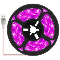 LED Grow Light Strip Plant Indoor Growing Lamp Cuttable USB Plant Grow Strip Lights Flexible Soft Rope Light for Seedlings Flowers Veg Greenhouse,model: Non-waterproof & 30LEDs