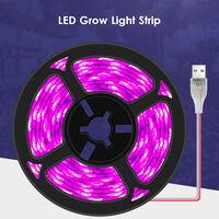 LED Grow Light Strip IP65 Waterproof Cuttable USB Plant Grow Strip Lights Flexible Soft Rope Light for Indoor Outdoor Plants Flowers Veg Greenhouse,model: Waterproof & 60LEDs