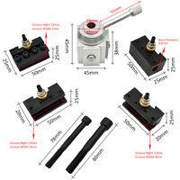 Mini Quick Change Tool Lathe Tool Holder Post Cutter Holder Screw Kit Set Boring Bar Turning Facing Holder Wrench