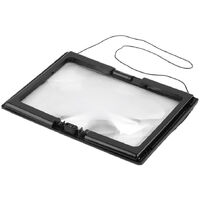 3X Magnifying Glass Reading Magnifier with LED Light Ideal for Reading Small Prints Book Low Vision Read Easily at Night,model:Black