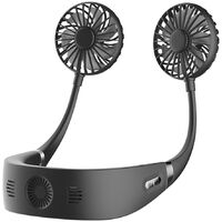 Portable Hands Free Neck Fan Mini Rechargeable USB Fan Personal Air-Cooler Fan with 3 Speeds 360
