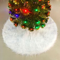 Christmas Tree Skirt Reusable Xmas Tree Skirt for Christmas Decorations Happy Thanksgiving Day Wedding Holiday Festivals Gift,model: Type 1