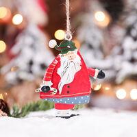 Christmas Tree Hanging Decorations Santa Claus Shaped Decorative Xmas Tree Hanging Ornaments for Indoor Outdoor Garden Patio Backyard Party Decor,model:Multicolor