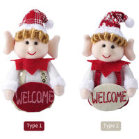 Christmas Tree Hanging Decoration Door Wall Welcome Ornament Thanksgiving Day Housewarming Decoration Winter Ornament Merry Christmas Happy Holidays Centerpiece Gift Holiday Festivals Dinner Decor,model: Type 2