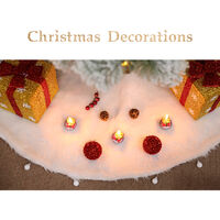 Christmas Tree Skirt Xmas Tree Mat for Festival Holiday Home Party Decoration Ornaments Present Gift,model: type 2