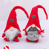Christmas Decoration Rudolph Forest Old Man Love Stand Action Figure Face-Less Standing Ornamental Action Figure,model:Red Female Type