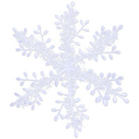 Christmas White Snowflakes Festival Wedding Holiday Party Home Decorations Winter Christmas Tree Ornaments Hanging Snow Flakes,model:White