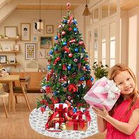Christmas Tree Skirt White Christmas Tree Decoration Supplies Christmas Tree Apron Christmas Decorations,model:White