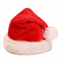 Christmas Decorations Long Plush Christmas Hat Red and White Adult Christmas Hat Holiday Party Dress Up Supplies,model:Red White
