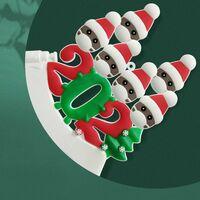 Christmas Decoration Pendant Snowman Quarantine Survivor Mask Snowman Christmas Tree Pendant 2021 Family Home Decor Xmas Gifts,model:White 7