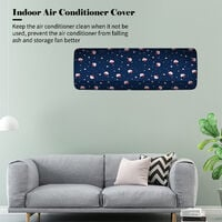Indoor Air Conditioner Cover with Drawstring Waterproof Washable Wall-Mounted Air Conditioner Dust Covers Mini Split Air Conditioner Cleaning Dust Protector,model: Type 5 & S