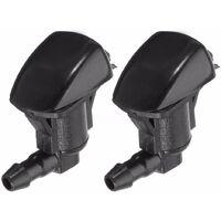 2PCS Front Windshield Washer Nozzle Water Sprayer Rear Wiper Screen Washer Jet 5303833AA,model:Black