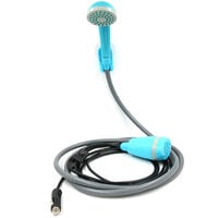 Portable 12V Cigarette Lighter Type Shower Outdoor/Indoor Handheld Rechargeable Showerhead Pumps for Camping Travel Car Wash Swimming Pool,model:Lake blue