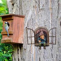 Snicker Boy Design Garden Character Statues Outdoor Funny Statue for Garden Decor Yard Lawn Ornaments,model:Multicolor